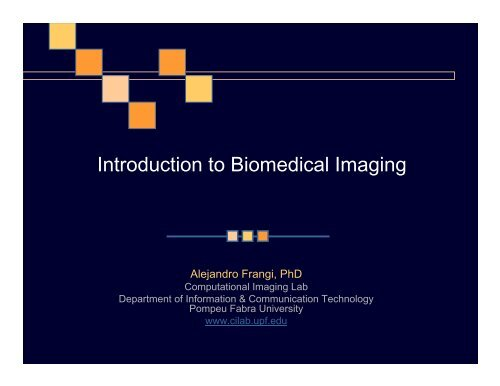 Introduction to Biomedical Imaging