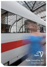 Hyder Consulting PLC Annual Report 2011