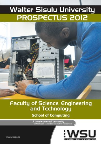 School of Computing prospectus 2012 - Walter Sisulu University