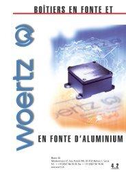 boîtiers en fonte et en fonte d'aluminium - Woertz Carolina Inc.