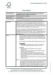 FSC-ADV-40-005-17 Documentation and procedural ... - NEPCon