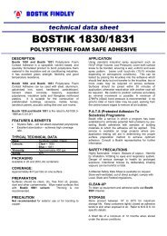 Bostik 1831 datasheet - Insulation Industries