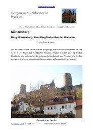 Münzenberg Burg Münzenberg- Zwei Bergfriede ... - Burgen-Web.de
