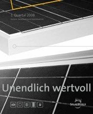 3. Quartal 2008 - SolarWorld AG