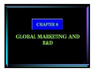 GLOBAL MARKETING AND R&D - Rezzen