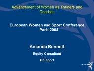 Amanda BENETT - EWS European Women and Sport