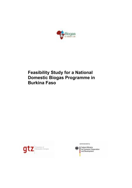 Biogas Feasibility National a Programme Domestic Study for uKTFJ51c3l
