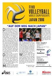 """""""AUF DEM WEG NACH JAPAN"""" - Deutscher Volleyball-Verband"""