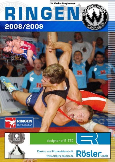 Hallenzeitung der Saison 2008 / 2009 - SV Wacker Burghausen
