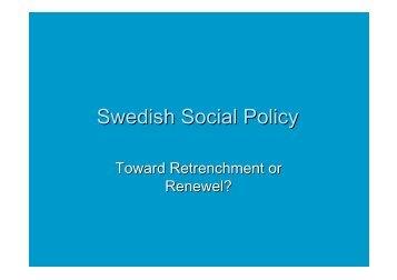Swedish Social Policy
