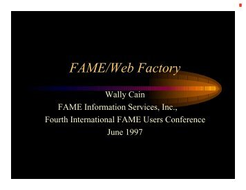 FAME/Web Factory - Sungard