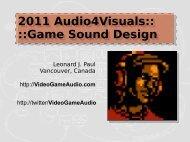 2011 Audio4Visuals - Video Game Audio
