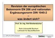 Änderungen in Neuausgaben von EN 206 und DIN 1045-2 - DAfStB