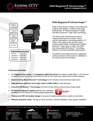 EX85 Megapixel-IP Infrared Imager™ powered by ... - CCTV Center