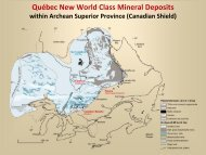 Québec New World Class Mineral Deposits within Archean ... - ADIMB
