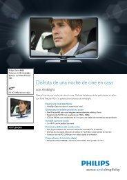 47PFL8404H/12 Philips Televisor LCD Ambilight ... - Supersonido