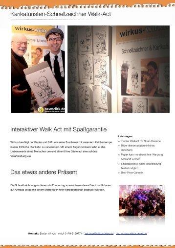 Karikaturisten-Schnellzeichner Walk-Act - wirkus