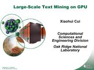 The GPU Enhanced Computer for Large-Scale Text Mining