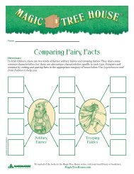 Compairing Fairy Facts - Magic Tree House