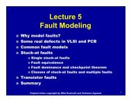 Lecture 5 Fault Modeling - CS Course Webpages