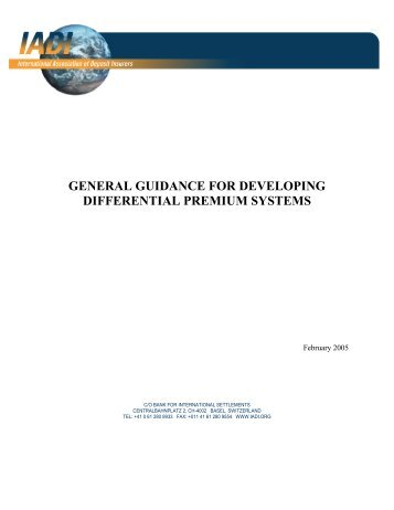 General Guidance for Developing Differential Premium Systems