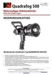 Bedienungsanleitung QF500 Hohlstrahlrohr - Leader
