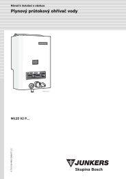 Plynový průtokový ohřívač vody