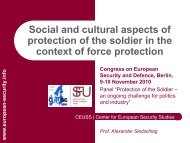 Putting protection of the soldier in context - European Security ...