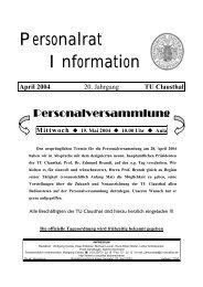 Personalrat Information - TU Clausthal