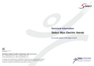 Select Myo Electric Hand Brochure - R S L Steeper