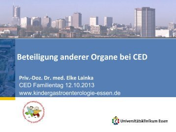 Beteiligung anderer Organe bei CED - Kinder-Gastroenterologie ...