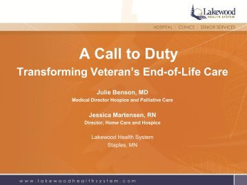 Transforming Veteran's End of Life Care - National Rural Health ...