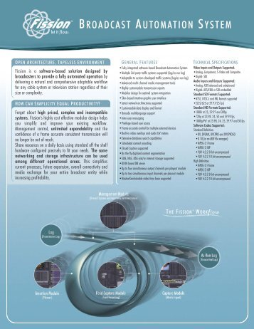 Fission Broadcast Automation System brochure - PBS
