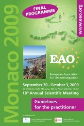 www .eao.org Guidelines for the practitioner - Colloquium