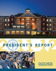 President's rePort - Dutchess Community College