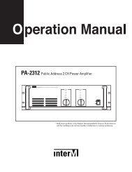 PA-2312 Public Address 2 CH Power Amplifier - Ljudia