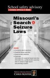 Missouri's Search and Seizure Laws - Missouri Attorney General