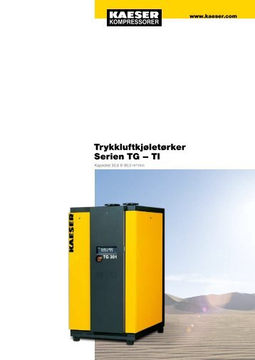 Trykkluftkjøletørker Serien TG – TI - KAESER Kompressorer