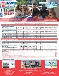 Miami Beach Price List 2011