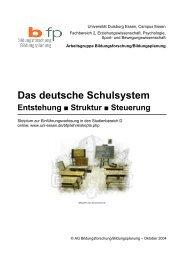 Das deutsche Schulsystem. Entstehung, Struktur ... - Bildungswissen