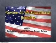 Veterans Benefits Overview (pdf) - Santa Ana College