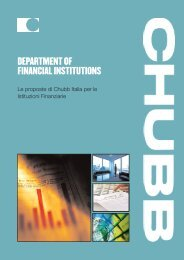 Financial Institutions - Chubb Group of Insurance Companies