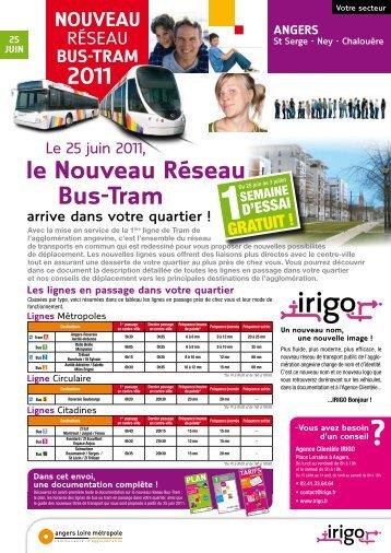 le Nouveau Réseau Bus-Tram - Irigo