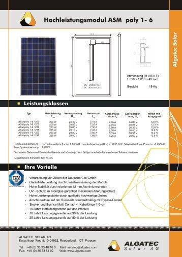 ASM poly 1 - 6 d - e - Mission Solar