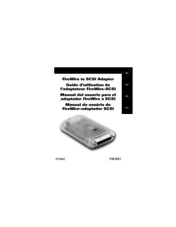 Firewire to SCSI Adapter Guide d'utilisation de l'adaptateur Firewire ...