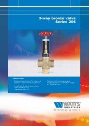 3-way bronze valve Series 296 - Watts Industries