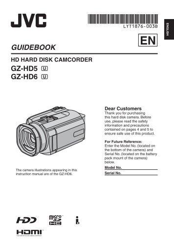 GUIDEBOOK GZ-HD5 GZ-HD6