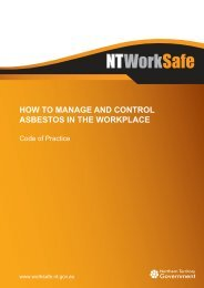 How to Manage and Control Asbestos in the Workplace - NT WorkSafe