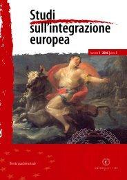 Numero 1 (gennaio - aprile) - Studisullintegrazioneeuropea.eu