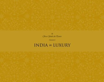 INDIA in LUXURY - Oberoi Hotels